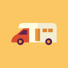 Camper. Transportation Flat Icon