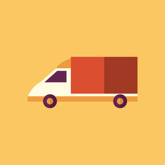 Van. Transportation Flat Icon