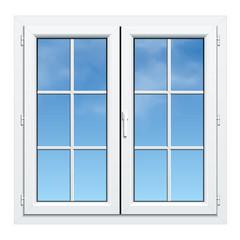 Fenêtre PVC avec croisillons