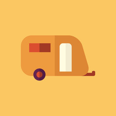 Trailer. Transportation Flat Icon