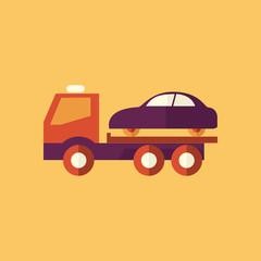 Tipper Truck. Transportation Flat Icon