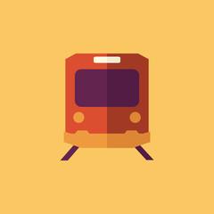 Train. Transportation Flat Icon