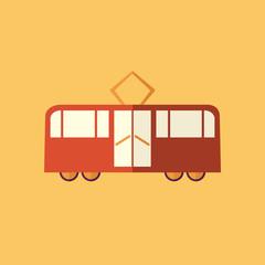 Tram. Transportation Flat Icon