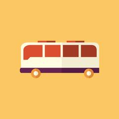 Bus. Transportation Flat Icon