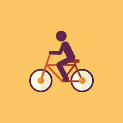 Bike. Transportation Flat Icon