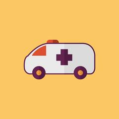 Ambulance. Transportation Flat Icon
