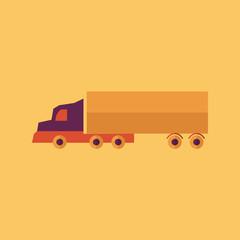 Truck. Transportation Flat Icon