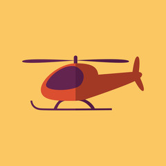 Helicopter. Transportation Flat Icon