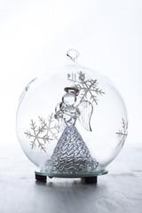 Christmas glass ball with angel inside