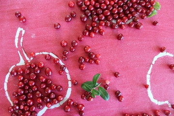 Lingonberries on the tray