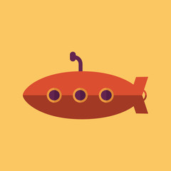 Submarine. Transportation Flat Icon