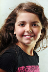 adorable child with long hair
