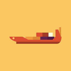 Ship. Transportation Flat Icon
