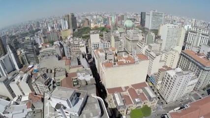 Aerial view from Downtown Sao Paulo, Brazil