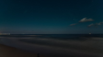 Coast of the Baltic Sea Panning Time Lapse at Night