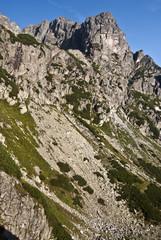 Jastrabia veza and Karbunkulovy hreben in Vysoke Tatry