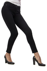 Woman's legs in black pants
