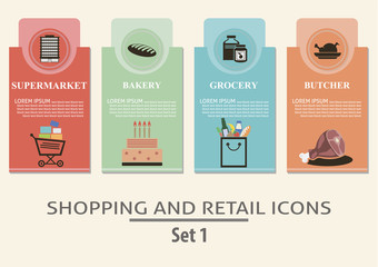 Shopping and retail  labels