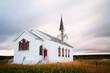canvas print picture - Kirche Nesseby in Norwegen