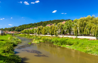Tarnava Mare River in Sighisoara, Romania