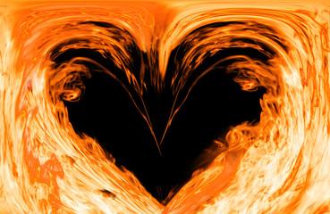 hot fire heart