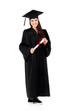 Graduating student girl