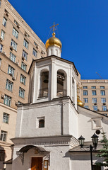 Belfry of church of Michael the Archangel (1662) in Moscow