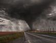 Leinwandbild Motiv Tornado disaster concept