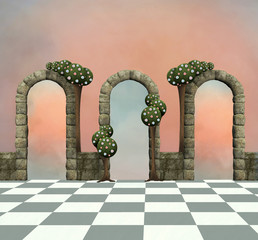 Wonderland series - Wonderland background with arcs