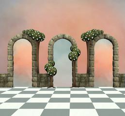 Wonderland series - Wonderland background with arcs