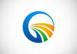 Obrazy na płótnie, fototapety, zdjęcia, fotoobrazy drukowane : abstract swirl round business logo