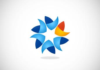 circular shape business abstract logo