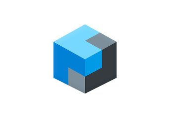 cube 3D box vector logo