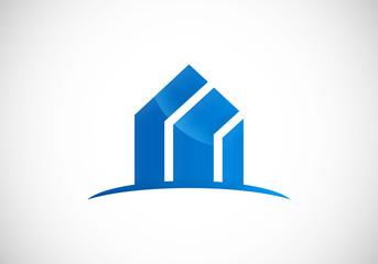 modern building absract vector logo