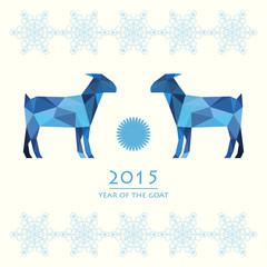 blue goat vector background