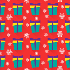 new year vector pattern background with gifts