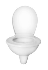 Toilet bowl.  Picture with clipping path.