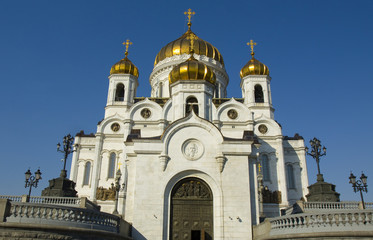 Moscow, cathedral of Jesus Christ Saviour