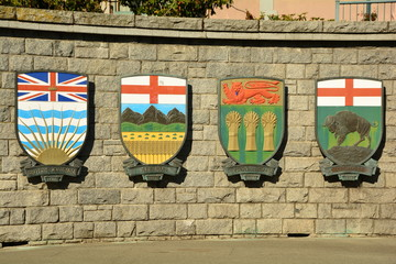 Coat or arms of Canadian provinces.