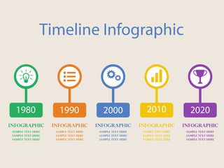 timeline infographics vector