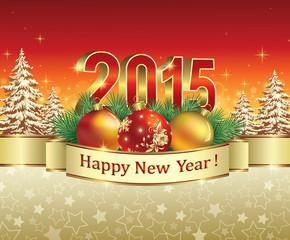 Christmas card with 2015