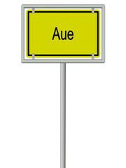 Aue - Ortsschild