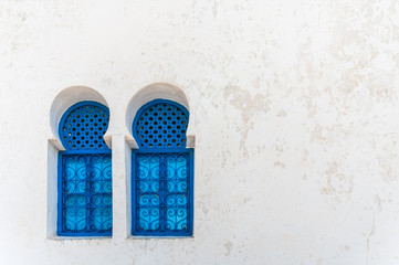 Lovely blue windows in Sidi Bou Said - Tunisia