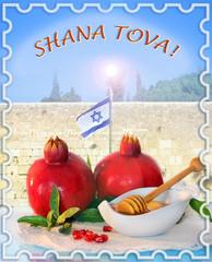 congratulation to the holiday Rosh Hashanah, english
