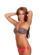 Sexy and beautiful woman with bikini