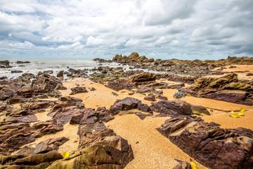 The Stone land on beach