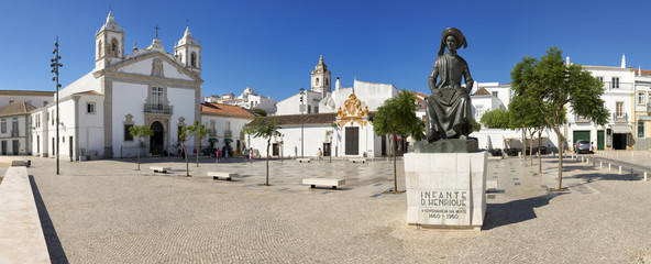 A public square in Lagos, Algarve, Portugal