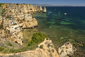 Cliffs in Ponta da Piedade near Lagos, Algarve