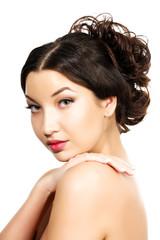 Pretty girl with braided hair