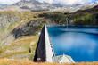 Leinwanddruck Bild - Diga di Goillet - Valle d'Aosta - 2.158 m s.l.m.